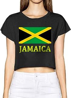 Jamaica Flag Womens Exposed Navel Cat Ear Hoodie Pullover Sweatshirt Its in My DNA