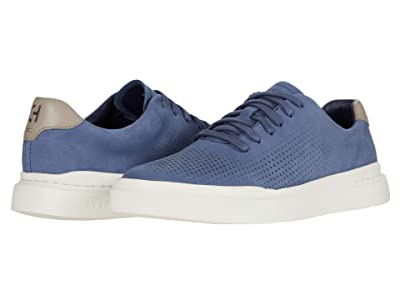 Cole Haan Grandpro Rally Laser Cut Sneaker (Smoke Blue/Khaki/White) Men