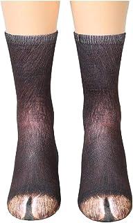 Meiping, Impresión 3D pie de Animal Calcetines en Forma de Garra Adultos Calcetines Unisex Animal adulto Novedad Elástico