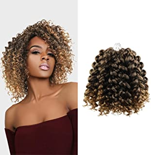 """MULTI PACK DEALS! AU-THEN-TIC FreeKalon Synthetic Hair Crochet Braids Curl Crush Spiral Wand Curl 8"""" with Free Gift (4-PACK, 1B)"""