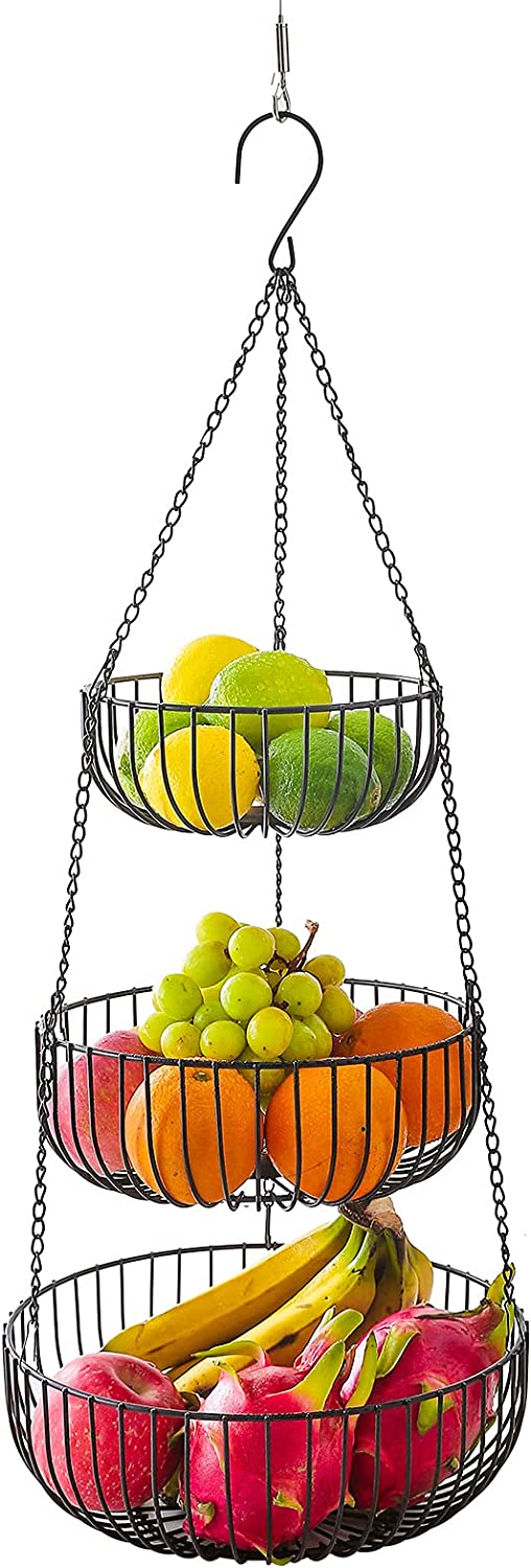 Large Size Sales results No. 1 3 Tier Hanging Basket Gifts Country and Fruit Rustic Style