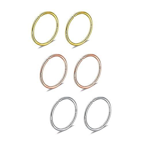 Fake Nose Ring Hoop Amazon Co Uk