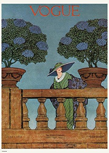 onthewall Vintage Vogue Juni 1912Poster Kunstdruck