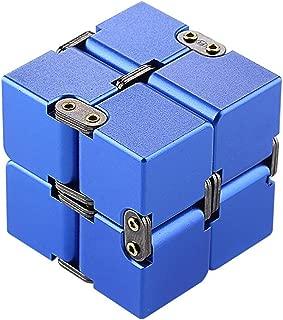 Awhao Decompression Rubik's Cube Alloy Aluminum Metal 190g Decompression Magic Cube Artifact Fingertip Square