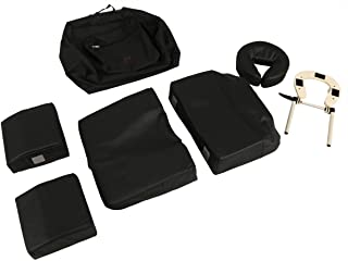 Minerva Deluxe Massage Pregnancy Bolster Set in Black with Carrying Case