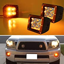 iJDMTOY (2) 3-Inch Cubic 20W CREE LED Pod Lights For Truck Jeep Off-Road ATV 4WD 4x4, Amber Yellow