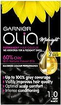 Garnier Olia Black Hair Dye Permanent 1.0 Deep Black, 320g