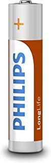 Philips Longlife Household 1.5 Volt AAA Battery 12-Pieces Pack, (50543)