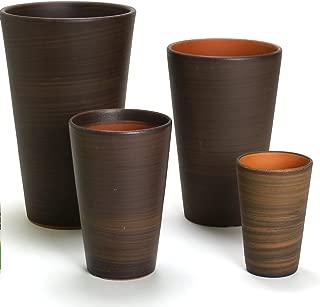 鉢 KANEYOSHI 【日本製/三河焼】 陶器 植木鉢 ハーモニー ブラウン 5号