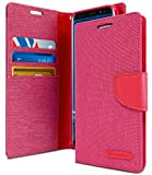 Goospery Canvas Wallet for Samsung Galaxy S9 Case (2018) Denim Stand Flip Cover (Pink) S9-CAN-PNK