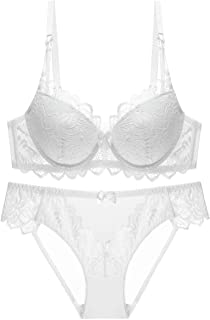 Howely Womens Sexy Lace Breathable Push Up Lingerie Everyday Bra and Panties