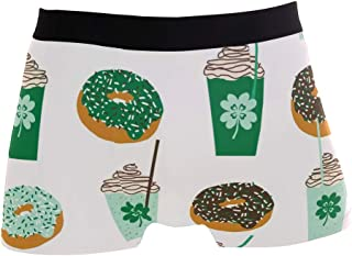 St Patricks Day and Donuts Drink Boxer Briefs Men's Underwear Pack Seamless Comfort Soft