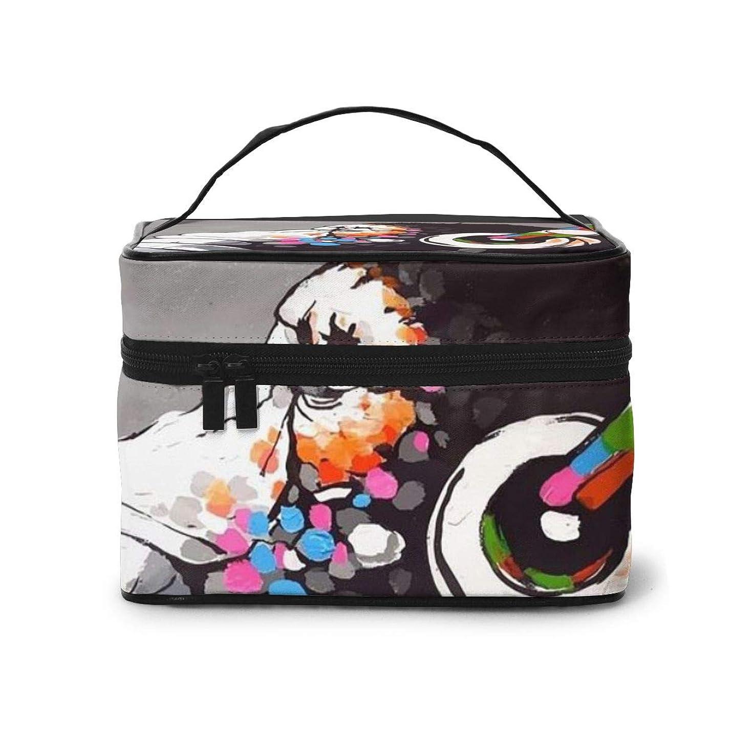 敬軍艦印象メイクポーチ 化粧ポーチ コスメバッグ バニティケース トラベルポーチ Banksy バンクシー 雑貨 小物入れ 出張用 超軽量 機能的 大容量 収納ボックス