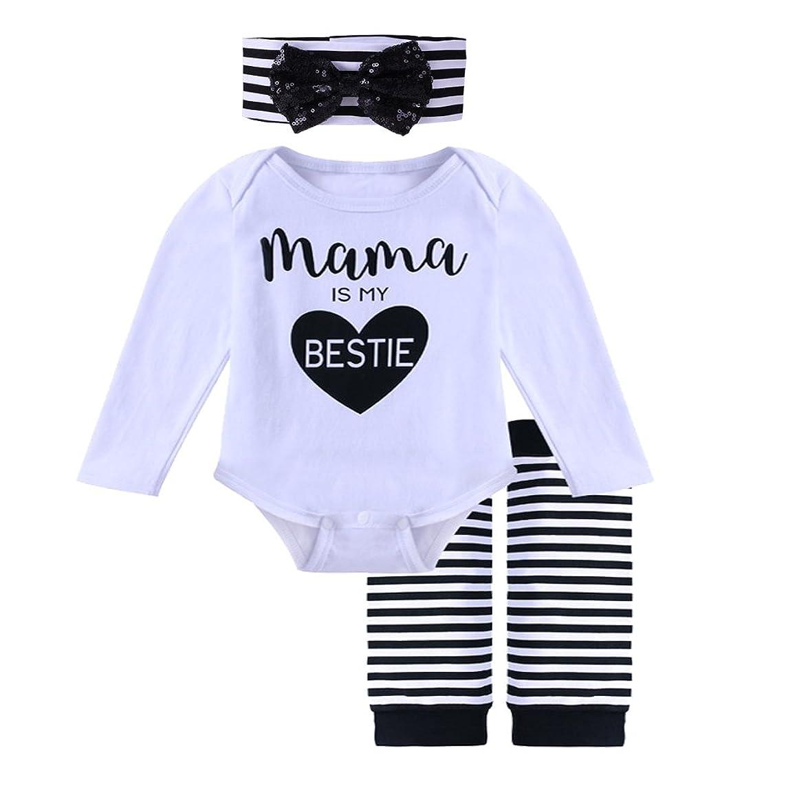 Yokidi 0-24M Baby Girl Long Sleeve Romper + Leg Warmer + Headband Outfits Set
