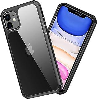 LAYJOY Funda iPhone 11, Carcasa Silicona Ligera Bumper Suave Negro TPU y Clear Transparente PC Duro Case Anti-Arañazos, An...