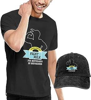Camiseta de manga corta para hombre con gorro de béisbol y gorro de béisbol