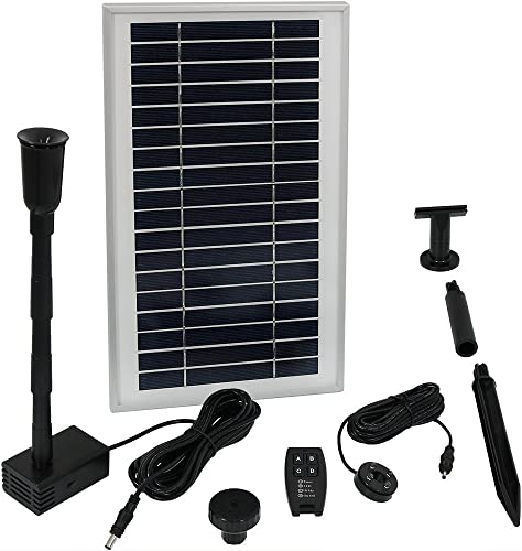 discount Sunnydaze Solar Powered Water Pump and Panel Kit with Battery Pack and Remote Control, Use for sale Outdoor Water Fountain, Bird Bath, or Pond, wholesale 105 GPH, 55-Inch Lift online sale