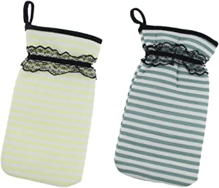 D DOLITY 2Pieces, Strong Exfoliating Hydro Body Scrub Glove, Double-sided Bath Shower Gloves for Deep Cleansing, a Healthy Looking Skin