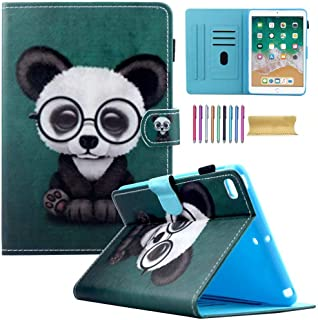 iPad Mini Wallet Case, Mini 1 2 3 4 Kids Case, Motie PU Leather Stand Smart Case Cover with Auto Sleep/Wake Function for 7.9 inch Apple iPad Mini 1 / Mini 2 / Mini 3 / Mini 4, Panda