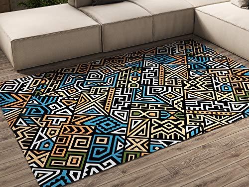 Oedim Alfombra Abstracto Colores 9 para Habitaciones PVC   95 x 165 cm   Moqueta PVC   Suelo vinílico   Decoración del Hogar   Suelo Sintasol   Suelo de Protección  