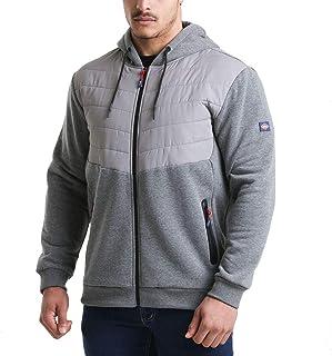 Lee Cooper Workwear LCJKT126 Mens Full Zip Thermal Workwear Zipped Quilted Hoodie Hoody Jacket Coa