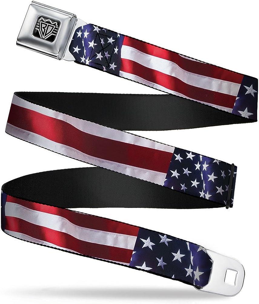 Limited time trial price Buckle-Down Seatbelt Belt - American Flag Max 87% OFF C U Wide Vivid 1.0