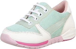 حذاء رياضي جلد صناعي برباط مزين بخياطة للبنات من بلينو