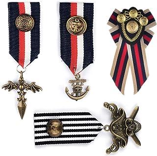 Deer Platz 4 Pezzi Medaglia Badge, Medaglie Militari, Militare Medaglia Badge, per Ceremonia Apertura Festa Costume, Costu...