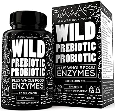 Wild Prebiotics and Probiotics for Women and Men - Breakthrough Digestive Enzymes Supplement Supports Gut Health & Digestion - Gluten Free & Non-GMO Astragalus Supplement - Wild Foods