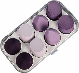 Make-upsponsblender 8-delig, make-upspons Schoonheid Cosmetisch hulpmiddel Foundation-spons, paars