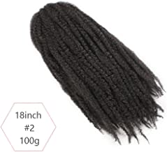 Synthetic Marley Braids Crochet Hair Afro Twist Braiding Hair Extensions 18Inch 20 Strands/Pack 1-10 Packs #2 18inches 1Pcs/Lot