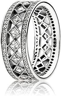 PANDORA Vintage Fascination Ring, Clear CZ 191007CZ-56 EU 7.5 US