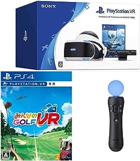 "PlayStation VR""PlayStation VR WORLDS""同梱版 + みんなのGOLF VR + PlayStation Move モーションコントローラー セット【特典】オリジナルカスタムテーマ(配信)"