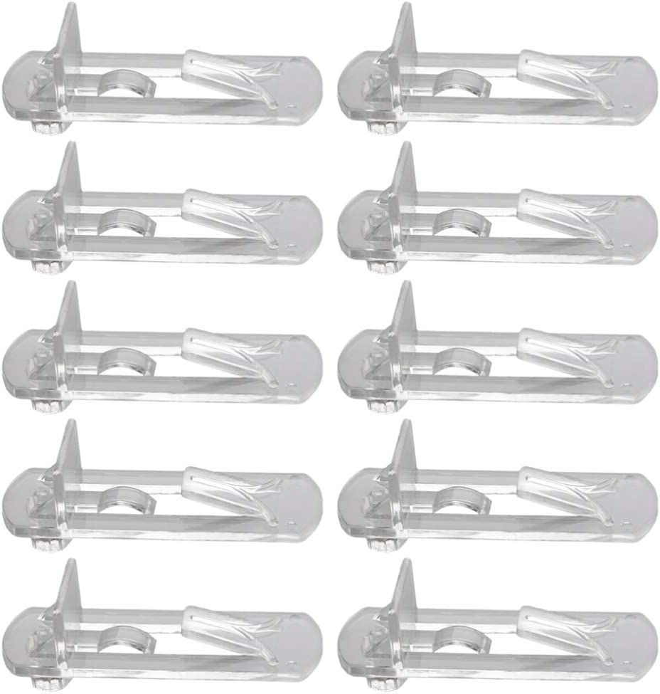 DOITOOL 30pcs Spring new work one after another Plastic Locking Shelf A surprise price is realized Pegs Pins Self