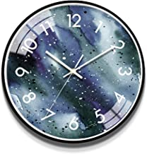 Wall Clock 12 14 Inch Watches Mute Living Room Wall Clock Bedroom Home Creative Clock Wall Decoration LJJCUICAN (Color : B...