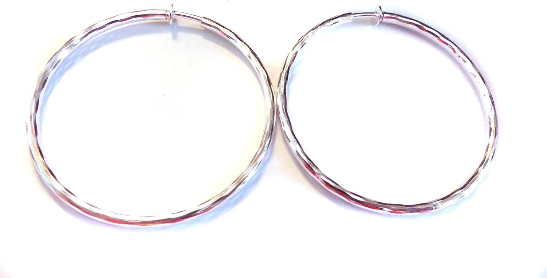 Clip on Earrings Hypoallergenic Hoop Earrings 2.25 Inch Silver R