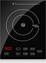 Portable Induction Cooktop Countertop Burner, CUSINAID 1800W Sensor Touch Electric Induction Cooker Suitable for Iron Cast Iron, Stainless Steel Cookware