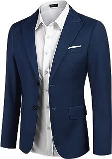 Men's Slim Fit Suit Blazer Jacket Two Button Lightweight Sport Coats