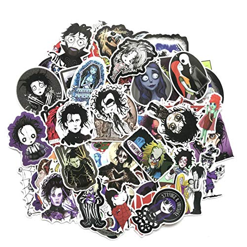 HHSM American Director Tim Burton Film Series Sticker Personality Suitcase Guitar Skateboard Graffiti Sticker 61pcs