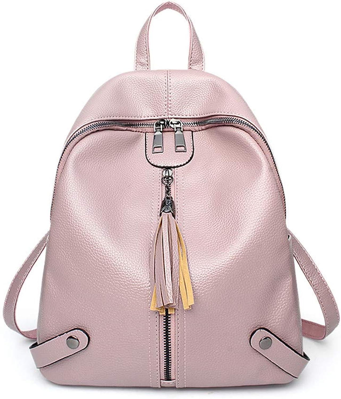 NVRENJIE die Frauen Sind Sind Sind Eine Tasche auf der Schulter der Modischen Rucksack-Umhängetasche aus Weichem Leder, Personalisiert mit großen Koffern Rosa B07GZH2V5B  König der Quantität b472be