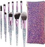 10 Piezas Pinceles de Maquillaje Juego de Pinceles de Maquillaje con Estuche de Viaje Mango de Madera Cepillo Kabuki de Fibra Sintética Para Base de Maquillaje Rubor Sombra de Ojos Poder Facial