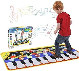 حصيرة بيانو موسيقية 19 مفتاحاً لوحة مفاتيح بيانو لوحة مفاتيح موسيقية محمولة لمكبر صوت مدمج ووظيفة تسجيل للأطفال والبنات وا...