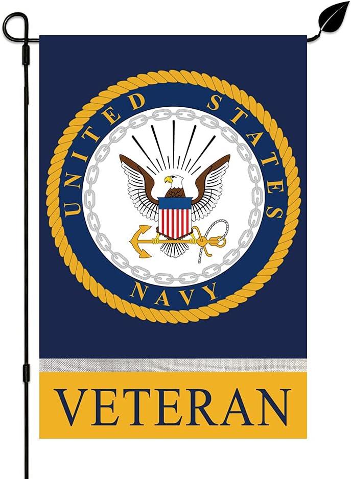 KINNYOBI-US Navy Veteran Garden Flag - Proo online shopping Color and Vivid Fade Memphis Mall