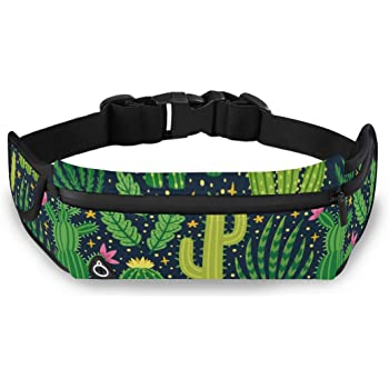 Pattern Cactuses Succulents Running Lumbar Pack For Travel Outdoor Sports Walking Travel Waist Pack,travel Pocket With Adjustable Belt