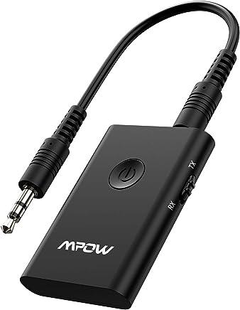 Mpow Transmetteur Bluetooth 4.2 Émetteur et Récepteur Adaptateur Bluetooth 2 en 1 Adaptateur Audio sans Fil Sortie Stéréo de 3,5 mm aptX Double Appairage pour TV, PC, Système Stéréo de Voiture/Maison