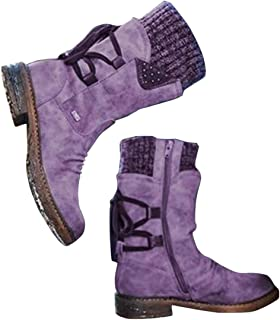 Winter Warm Back Lace Up Boots Outdoor Winter Snow Boots Fur Booties Fashion Shoes for Women Girls