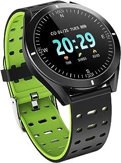 LINGJIA Pulsómetros P6 Reloj Inteligente Ip67 Reloj Impermeable Pasos para Contar Presión Arterial Monitoreo del Ritmo Cardíaco Reloj Deportivo Verde