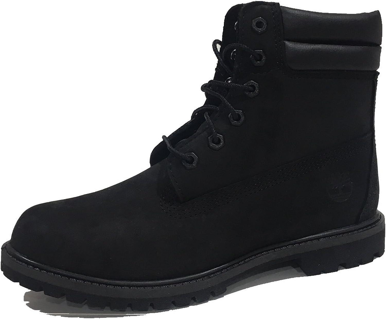 Timberland Womens Waterproof 6 Inch Double Collar Boot (8.5 B(M) US, Black)