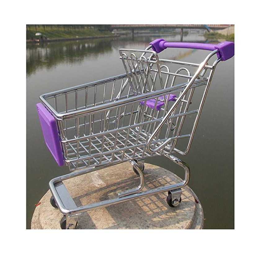 CRBoutique Mini Desktop Desk Top Organizer Shopping Cart (Light Purple)