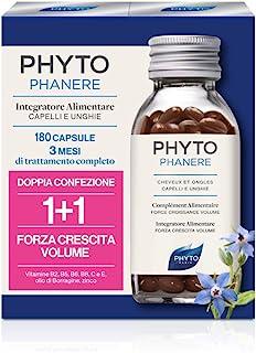 Phyto Phytophanere Integratore Alimentare Naturale Fortificante per Capelli e Unghie, Dona Forza, Crescita e Volume, senza...